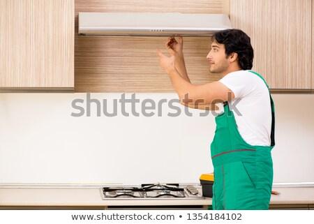 Jungen Auftragnehmer Küche Haus Mann Stock foto © Elnur