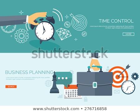 Iş süreç zaman işadamı durum saat Stok fotoğraf © robuart