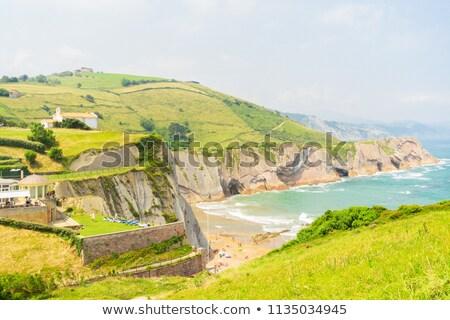 海岸 · スペイン · 岩石層 · ビーチ · 夏 · 空 - ストックフォト © neirfy