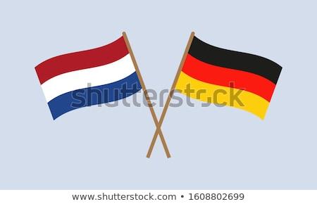 Banner dos cuadrados banderas Alemania Países Bajos Foto stock © MikhailMishchenko