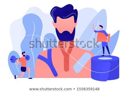 Kinesiology taping concept vector illustration. Stock photo © RAStudio
