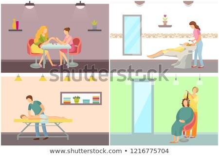 vector · vrouwelijke · spa · salon · geïsoleerd · witte - stockfoto © robuart