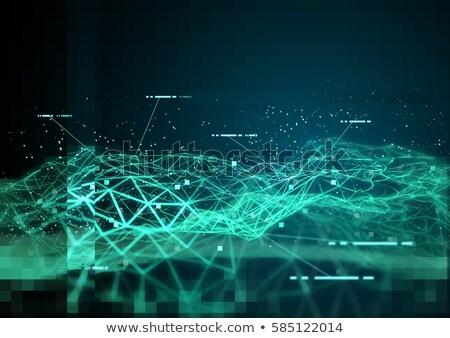 Información polígono tecnología de la información futurista 3d Foto stock © solarseven