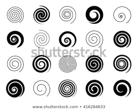 Soyut siyah spiral ayarlamak örnek Stok fotoğraf © Blue_daemon
