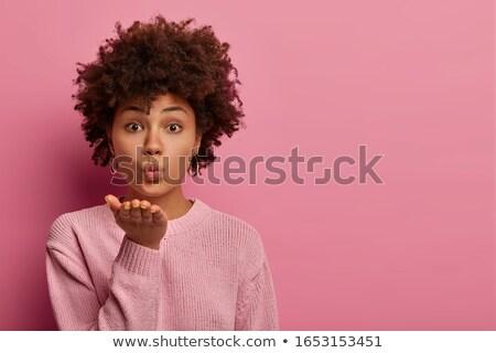 piękna · młodych · fotograf · portret · uśmiechnięty - zdjęcia stock © deandrobot