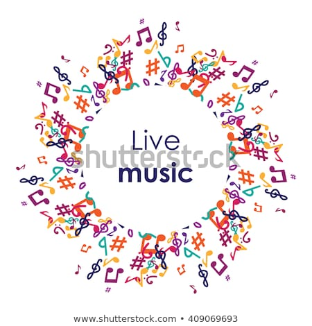 zene · koncert · közönség · csoportkép · tag · elvesz - stock fotó © decorwithme