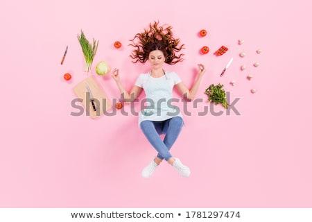 étel jó hangulat boldogság gyümölcsök energia kövér Stock fotó © furmanphoto