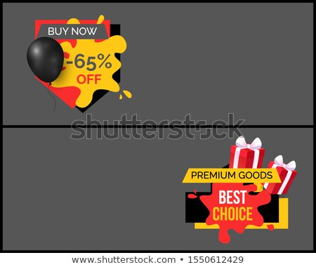buy now 65 percent discount shop store sale poster stock photo © robuart