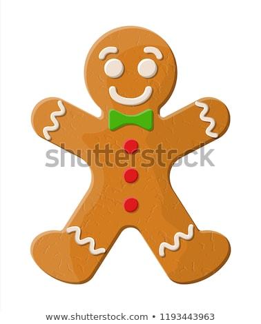 Gingerbread man kış karakter kurabiye zencefil vektör Stok fotoğraf © robuart