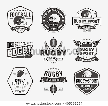 Retro vintage badge label kampioenschap vector Stockfoto © vector1st