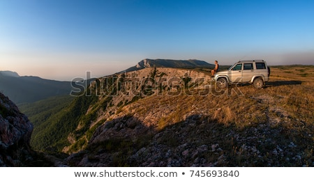 Nature Mountain Car Park Scene Stock photo © colematt