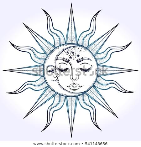 astrologia · abstract · bianco · etichette · blu - foto d'archivio © netkov1