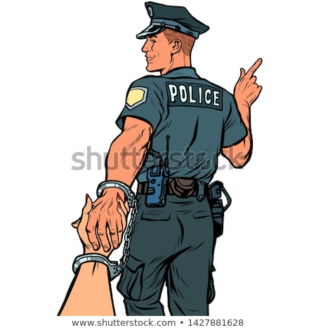 follow me police officer arrested woman. love and marriage concept Stock photo © studiostoks