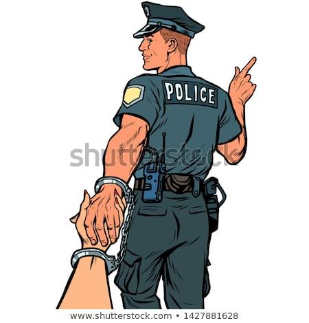 полицейский · Постоянный · полиции · автомобилей · Hispanic - Сток-фото © studiostoks