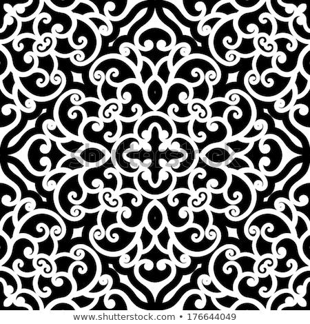 Dekoratív klasszikus csipke végtelenített vektor minta Stock fotó © RedKoala