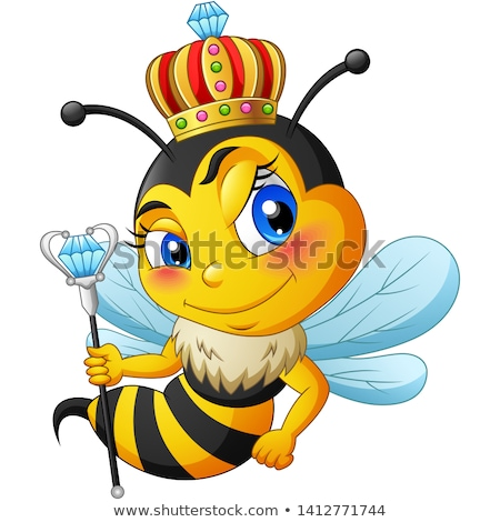 Queen Honey Bumble Bee Bumblebee in Crown Cartoon Stock photo © Krisdog