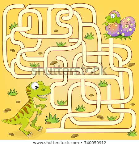 maze game with comic fantasy characters Stock photo © izakowski