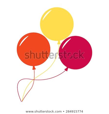 Três cor inflável balões vetor isolado Foto stock © robuart