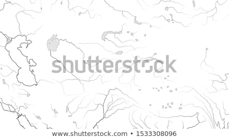 World Map of CENTRAL ASIA REGION (ASIA INTERIOR): Kazakhstan, Turkestan, Afghanistan. (Chart). Stock photo © Glasaigh