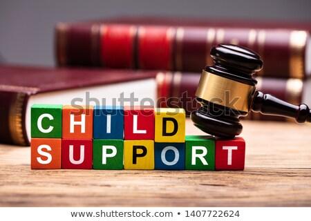 çocuk destek İncil renkli çekiç ahşap Stok fotoğraf © AndreyPopov