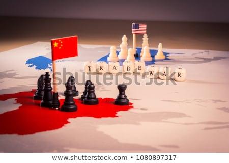 Сток-фото: Usa And China Trade War