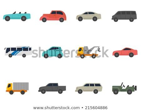 electric car flat icon stock photo © netkov1