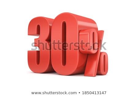 kırmızı · otuz · yüzde · imzalamak · beyaz · iş - stok fotoğraf © iserg