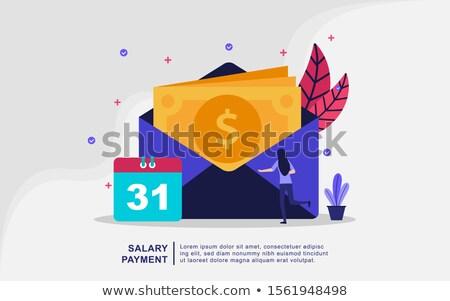 Lądowanie strona szablon ceny nagrody pieniężnych Zdjęcia stock © RAStudio