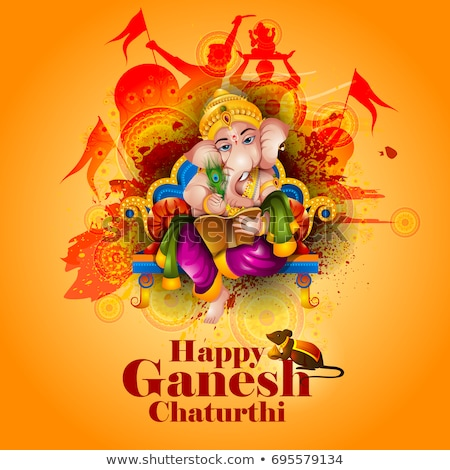 traditional festival of ganesh chaturthi background design stock photo © sarts