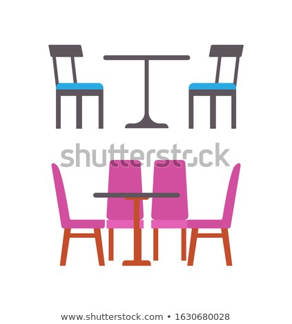 Blue and Pink Furniture of Eatery or Restaurant Stock photo © robuart