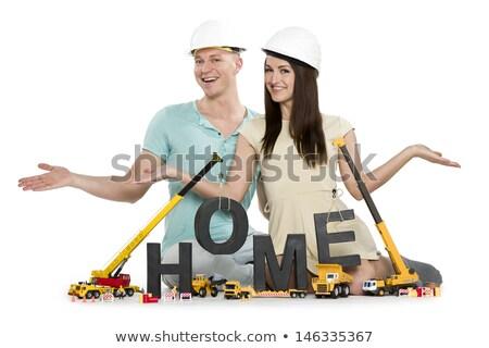 ホーム 建設 カップル 建物 アップ ストックフォト © lichtmeister