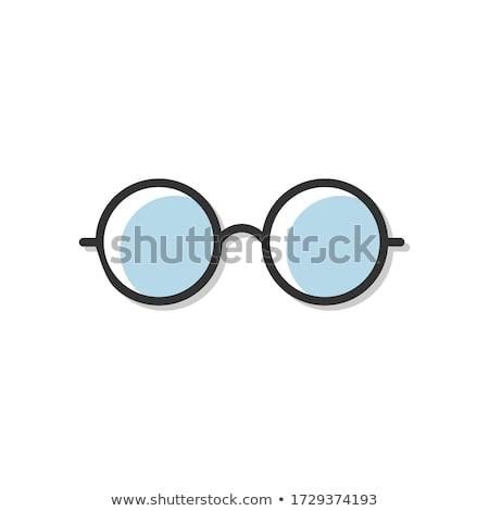 Okulary wizji korekta retro wektora prostokątny Zdjęcia stock © pikepicture