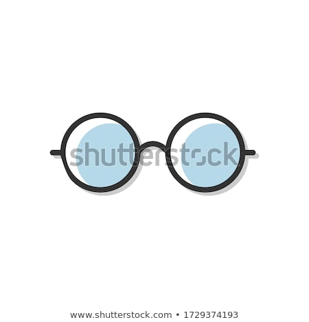 Bril visie correctie retro vector rechthoekig Stockfoto © pikepicture