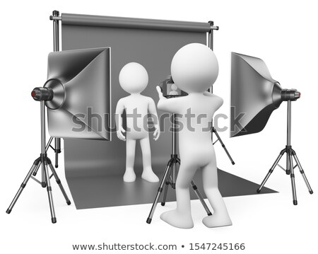 3D white people. Photographer in his studio Stock photo © texelart