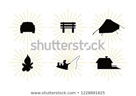 vector · ingesteld · zomer · reizen · vakantie · symbolen - stockfoto © barsrsind