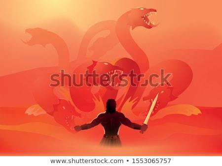 神話の 文字 強い 筋肉の 男 ボディ ストックフォト © jossdiim