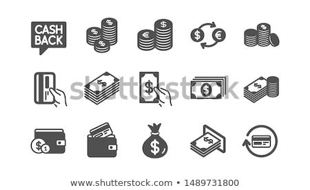 Pénztárca kártyák pénz fekete bőr üzlet Stock fotó © nomadsoul1