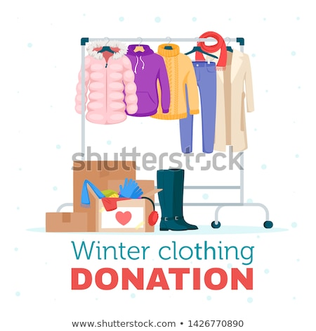 Donation Clothes And Shoes With Hanger Rack Foto d'archivio © curiosity