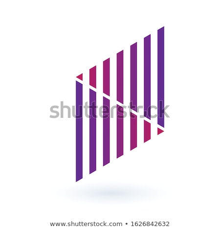 Futuristic abstract geometric logo design made out of stipes. Corporate tech geometric identity conc Stock photo © kyryloff