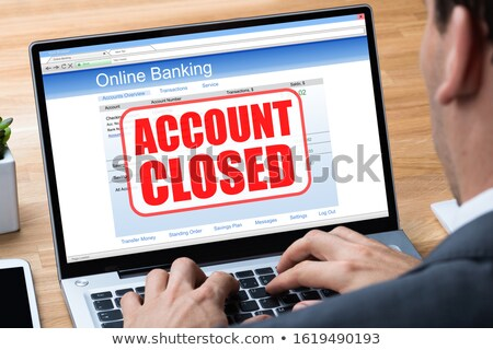 Laptop With Account Closed Message On Screen Stock photo © AndreyPopov