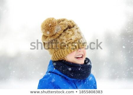 Osoby ciepły ubrania wektora człowiek Zdjęcia stock © robuart