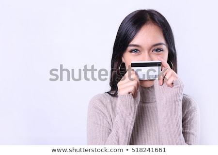 Szczęśliwy kobieta klienta karty kredytowej moda Zdjęcia stock © boggy
