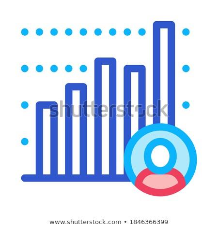 Candidato statistiche icona vettore contorno illustrazione Foto d'archivio © pikepicture