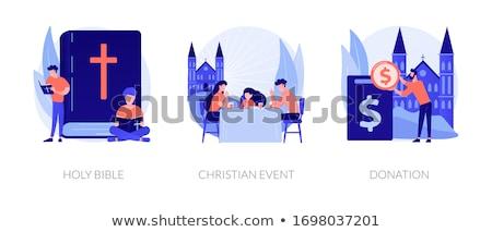 Hristiyanlık vektör metafor kilise cemaat yaşam tarzı Stok fotoğraf © RAStudio