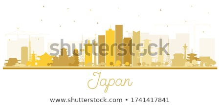 Osaka gouden silhouet eenvoudige toerisme Stockfoto © ShustrikS
