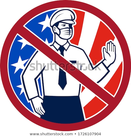 No Entry Without Immunization USA Sign Icon Stock photo © patrimonio