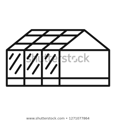 house with greenhouse icon vector outline illustration Stock photo © pikepicture