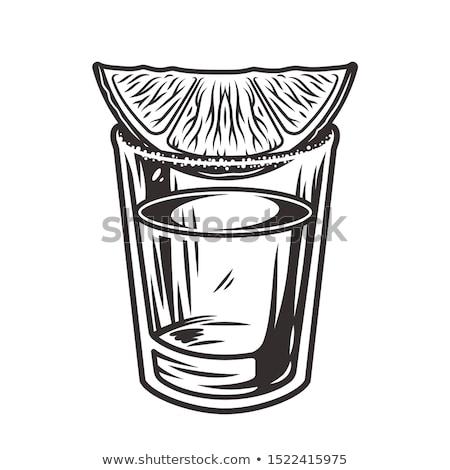 Tequila chaux servi tranche fête été Photo stock © mephi55to