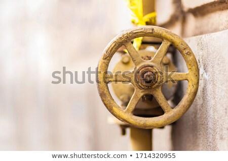 Szczegół żółty przemysłowych zardzewiałe rurociąg niebo Zdjęcia stock © Melvin07