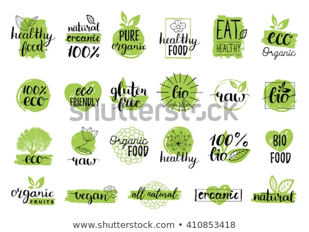 set of bio eco organic elements stock photo © orson